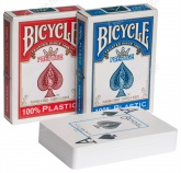 Карты Bicycle Prestige 100, plastic (красный/синий)